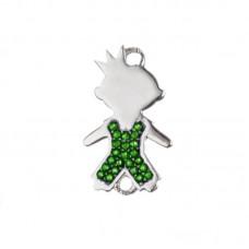 Принц с зелеными фианитами (Ag 925)