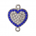Сердце с фианитами (Ag 925)