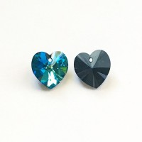 Heart Crystal Bermuda Blue